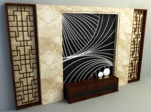 Stone Wall Panel Free 3D Model