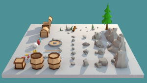 Stones And Buried Treasure Pack 3D Model