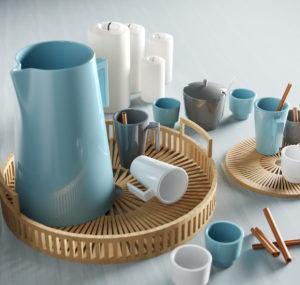 Stylish Cup Set 3D Model