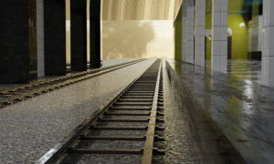 Subway Station Interior Scene 3D Model