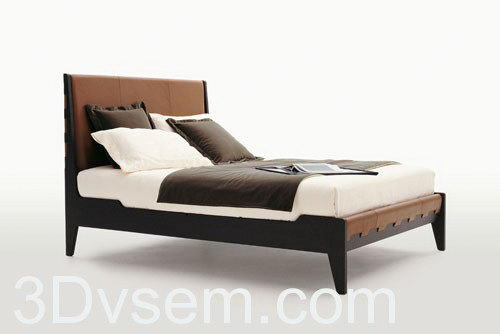 Talamo Maxalto Bed 3D Model
