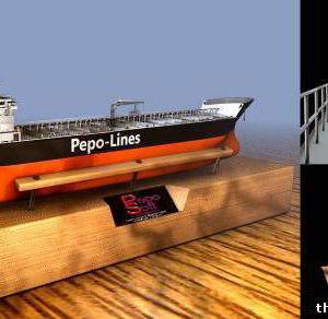 Tanker Vessel 3d model