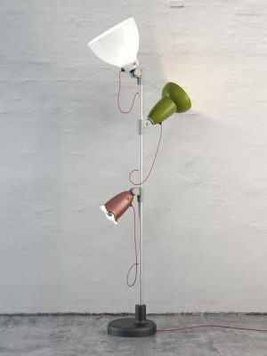 Three Lights Floor Lamp 3D Model