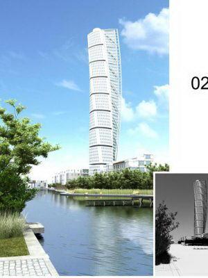 Tower Exterior Scene 3D Model
