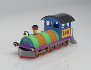 Toy Locomotive 3D Model