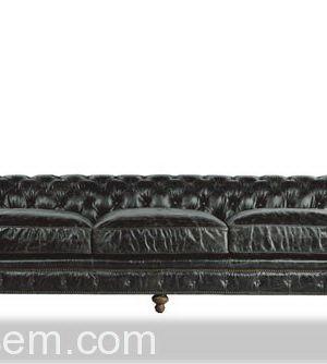 Triple Leather Sofa 3D Model
