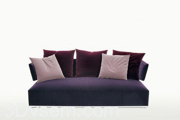 Triple small sofa 3D Model