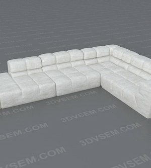 Tufty Corner Sofa 3D Model