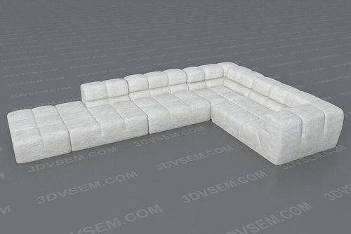 Tufty Corner Sofa 3D Model