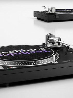 Turntable Music Player 3D Model
