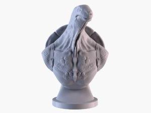Turtle Sculpture 3D Model
