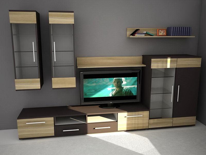 Tv Console Furniture 3D Model