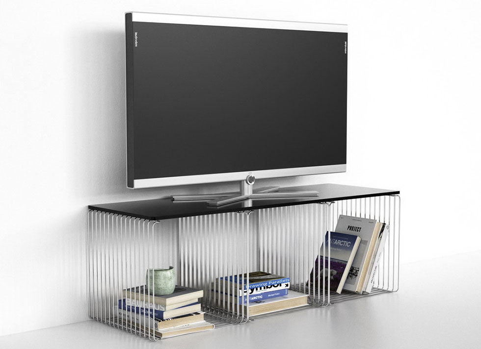 Tv Station, Center table and Wall shelf 3D Model Pack