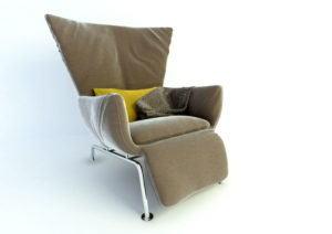 Twill Armchair Free 3D Model
