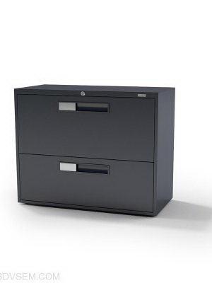 Two-Door Office Cabinet 3D Model