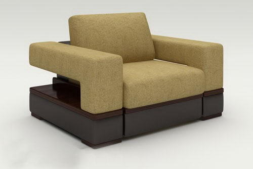 Two-Tone Armchair 3D Model