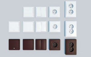 Wall Socket and Light Switch 3D Model