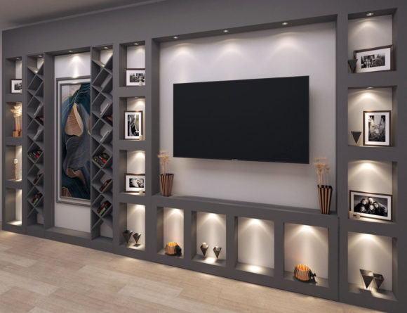 Wall Tv Unit 3D Model