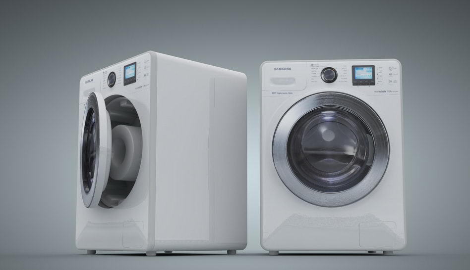 Wash Machine 3D Model