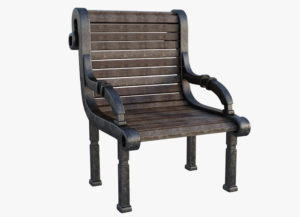 Western Wood Chair 3D Model