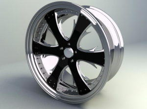 Wheel Rim Free 3D Model