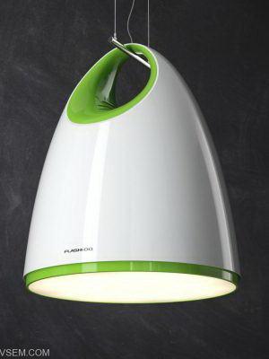 White Green Ceiling Light 3D Model