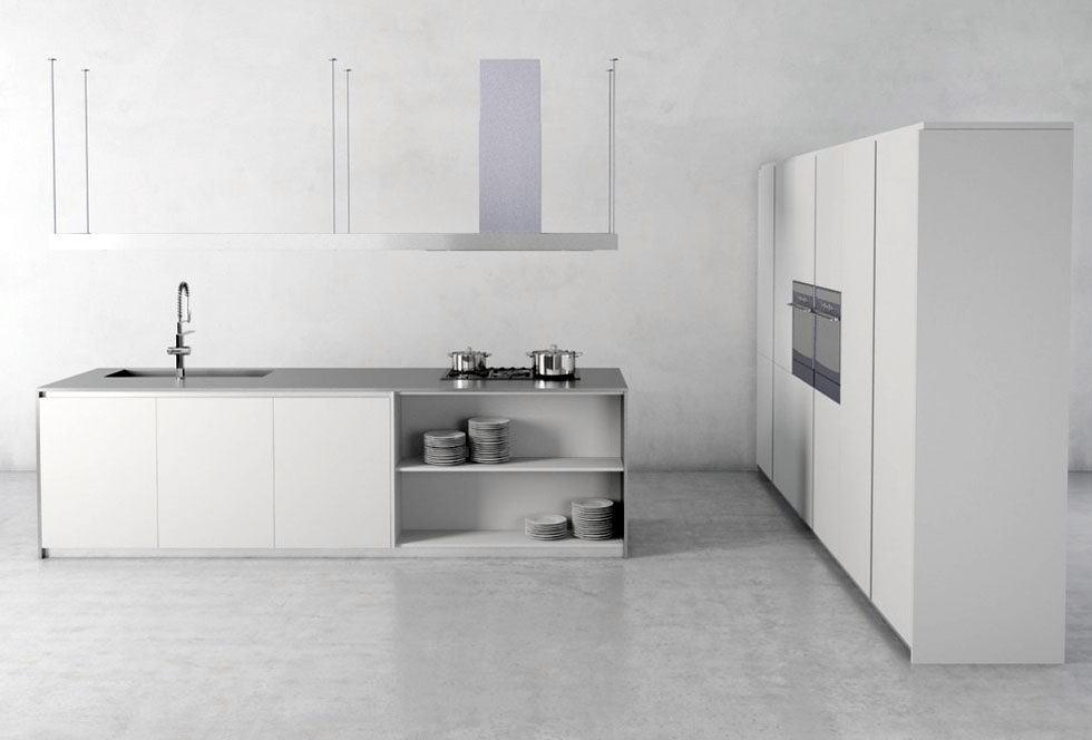 White Kitchen Design 3D Model