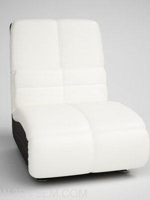 White Leather Armchair 3D Model