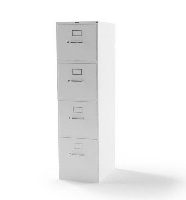 White Office Cabinet 3D Model