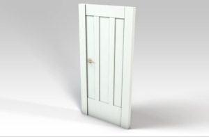 White Room Door 3D Model