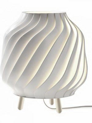 White Spiral Table Lamp 3D Model