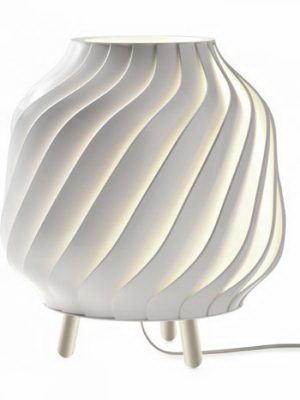 White Spiral Table Lamp 3D Model