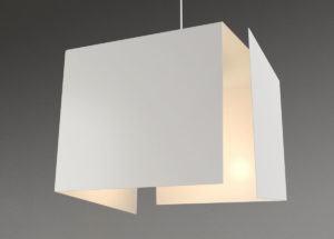 White Square Pendant Lamp 3D Model