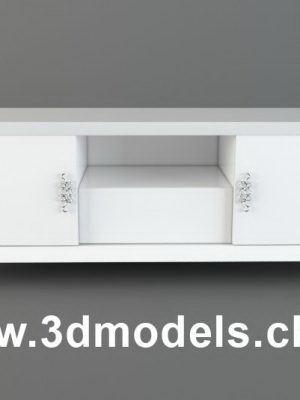 White Tv Curb 3D Model