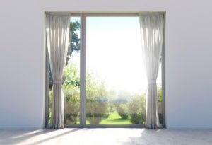 White Window Curtain 3D Model