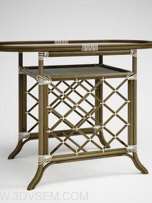 Wicker Table 3D Model