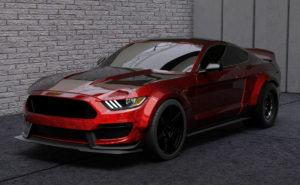 Wide Body Mustang GT350 3D Model