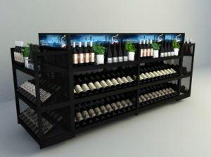 Wine Display Cabinet 3D Model