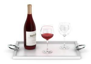 Wine and Wine Glass 3D Model