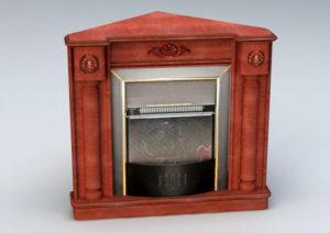 Wintage Fireplace 3D Model