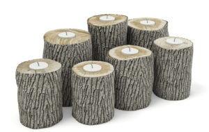 Wood Candlesticks 3D Model