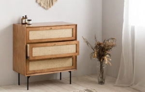 Wood Chest of Drawers 3D Model