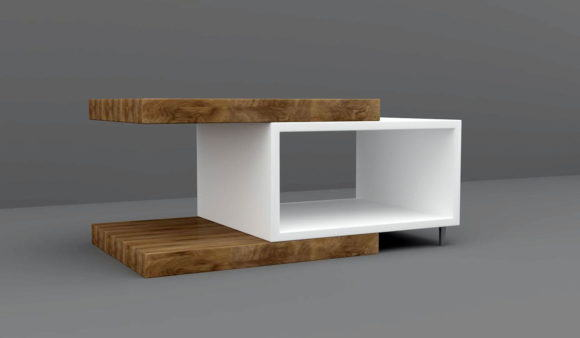 Wood Decorative Coffee Table 3D Model
