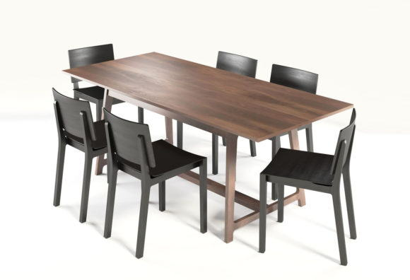 Wood Dinning Table 3D Model