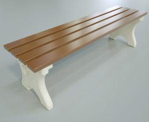 Wood Street Bench 3D Model