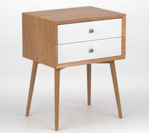 Wooden Bed Side Table 3D Model