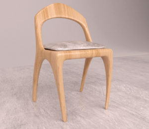 Wooden Child Chair 3D Model