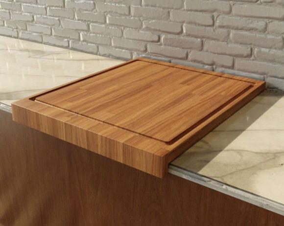 Wooden Chopping Board 3D Model