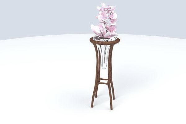 Wooden Frame Glass Vase 3D Model