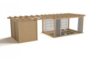 Wooden Garden Shelter 3D Model
